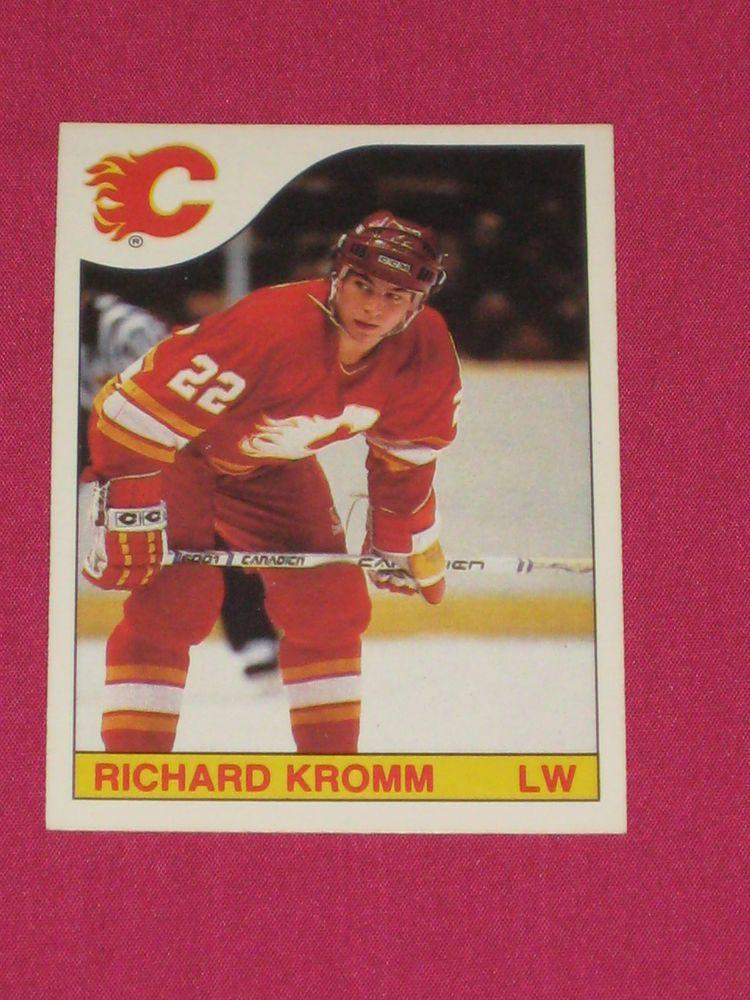 198586 222 Richard Kromm, OPeeChee OPC, Calgary Flames