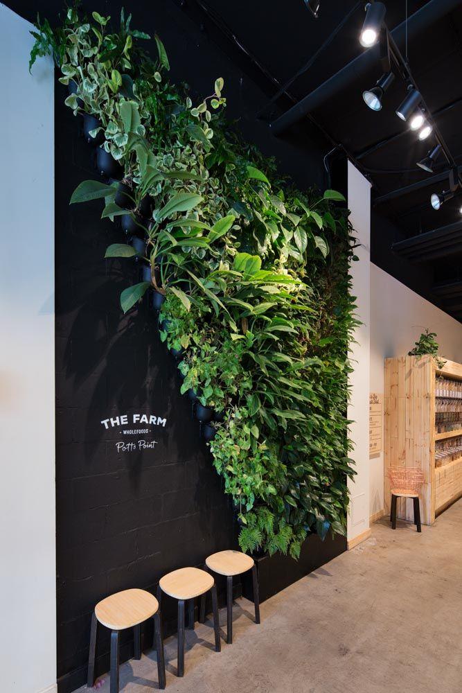 The Farm Wholefoods u2013 by Vertikal Extraordinary vertical gardens