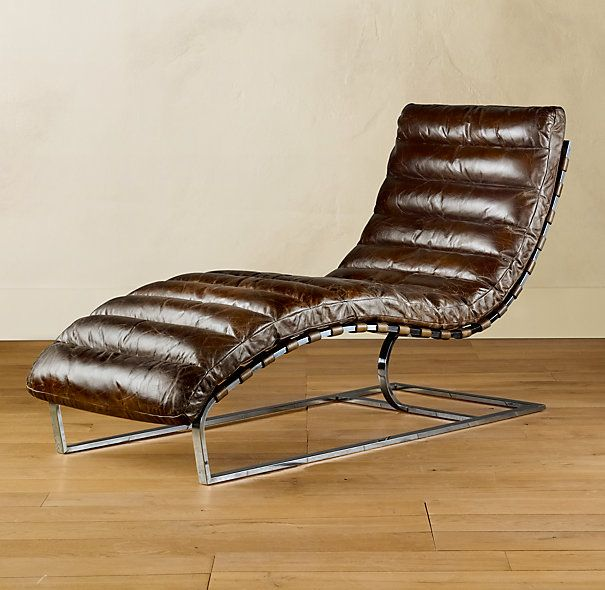 Oveido Chaise Vintage Cigar Chair at Restoration Hardware.  Comfy!