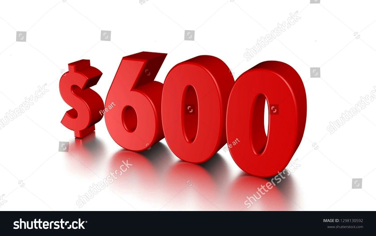 hundred price symbol red text number 3d render with dollar sign on white background 600 six hundred price symbol red text number 3d render with dollar sign on white backg...