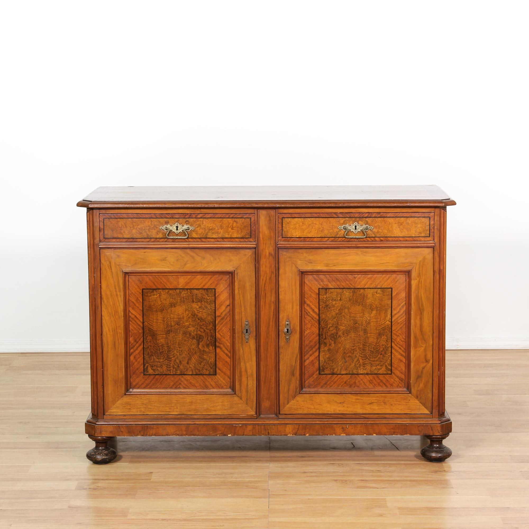 Antique English Server On Bun Feet | Loveseat Vintage Furniture San Diego U0026  Los Angeles