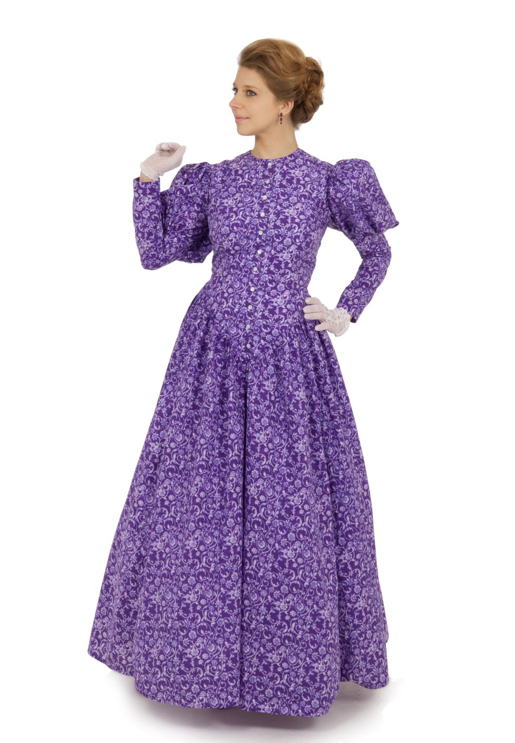 Victorian Style Dress By Recollections This Is Listed Under Bustle Styles But It Has No And Puffed Sleeves Putting Squarely In The 1890s