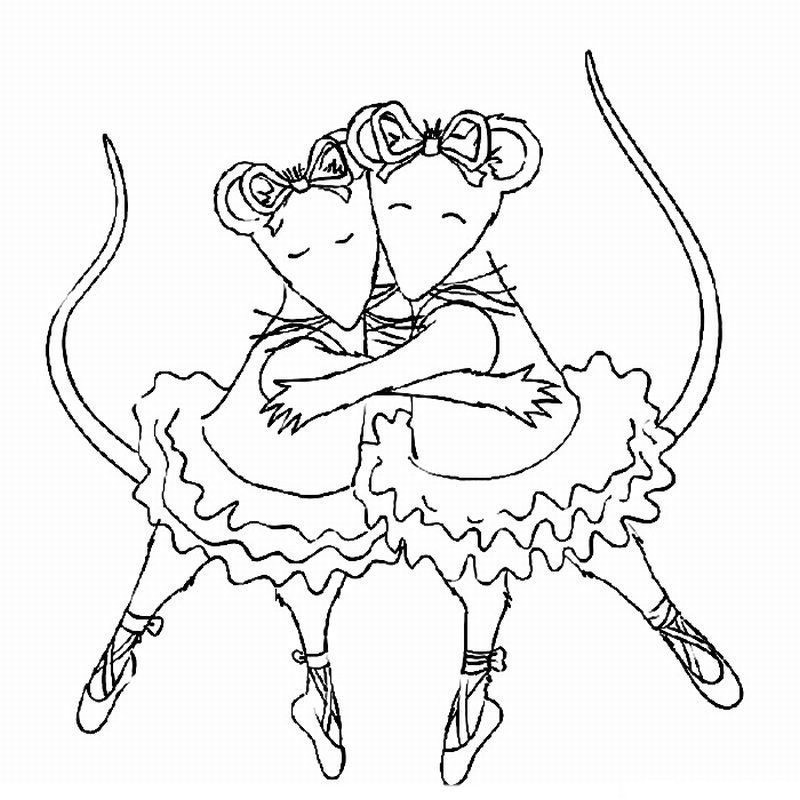 Angelina Ballerina Coloring Pages 19 Angelina Ballerina Party