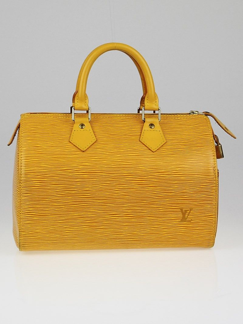 0a1be4287c015 Louis Vuitton Tassil Yellow Epi Leather Speedy 25 Bag