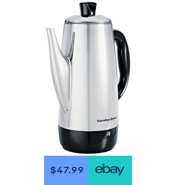 Hamilton Beach 40616 Stainless Steel 12 Cup Electric Percolator Percolator Coffee Percolator Electricity