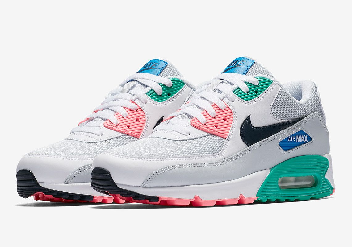 premium selection 56bc7 ac560 Nike s propensity for adding similar colorways to multiple Air Max  selections continues with this Spring-ready Air Max 90. Dressed in a nearly  identical ...