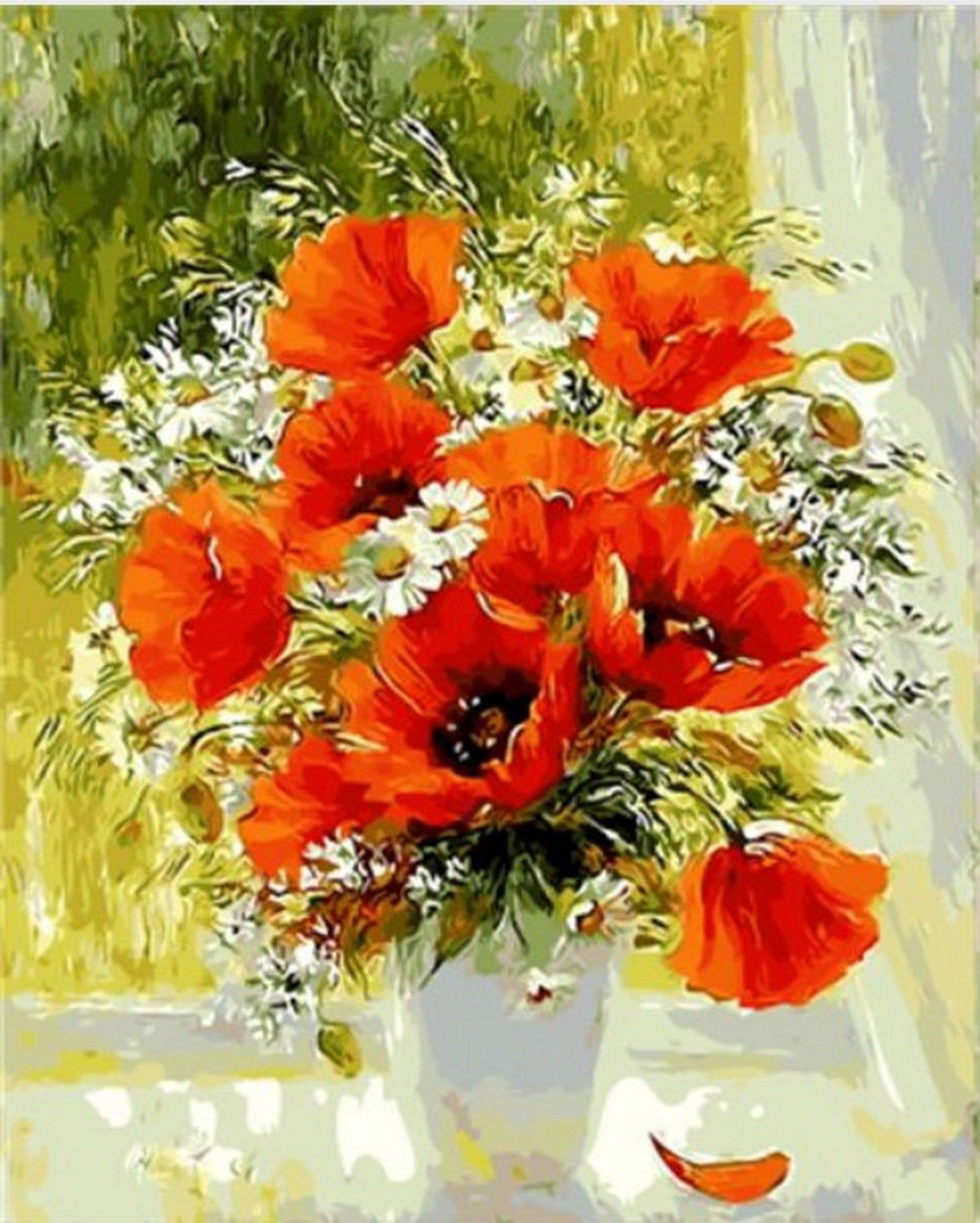 """19.68x15.7"""" Beautiful bouquet Paint by Number, with"""