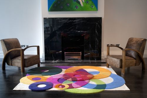 Sonya Winner S Bubble Outline Rug With