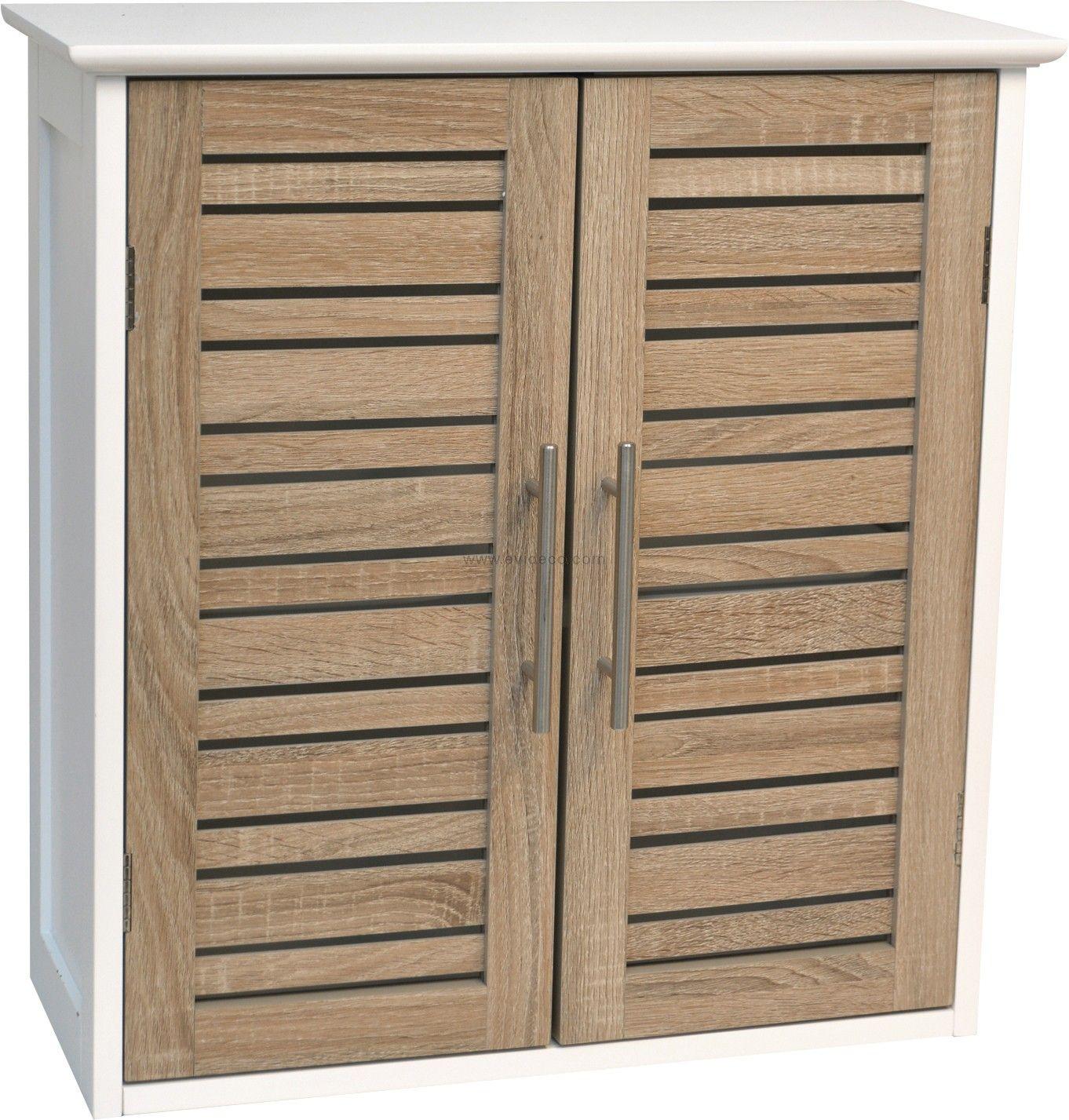 Bathroom Wall Mounted Cabinet 2 Doors Bamboo Wood Wall Mounted Cabinet Wall Mounted Bathroom Cabinets Bathroom Wall Cabinets