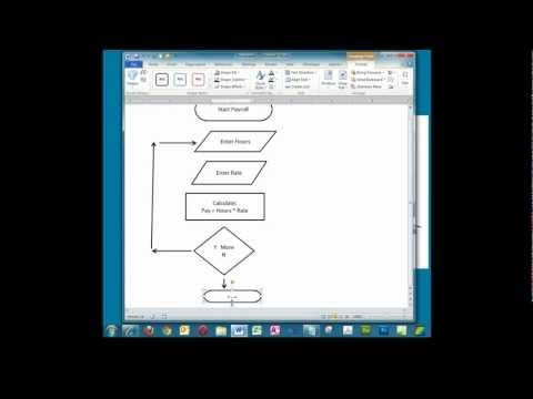 Creating a Simple Flowchart in Microsoft Word - YouTube UX - flow chart format in word