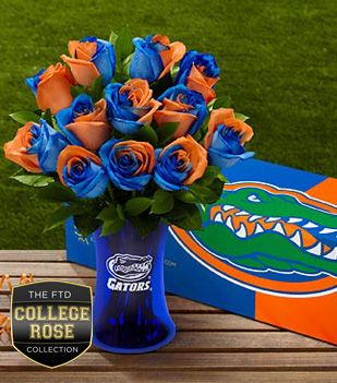Ftd Proudly Presents The University Of Florida Gators Rose Bouquet Show Your Colors And Pride Orange Rose Bouquet Same Day Flower Delivery Flower Delivery