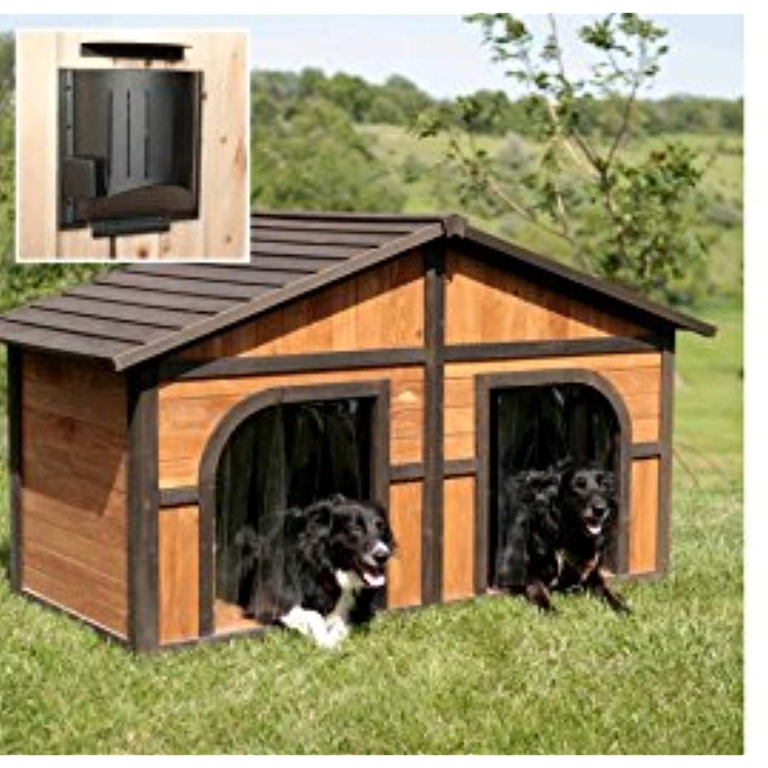 Solid Wood Construction Heated Extra Large Dog House For One Or
