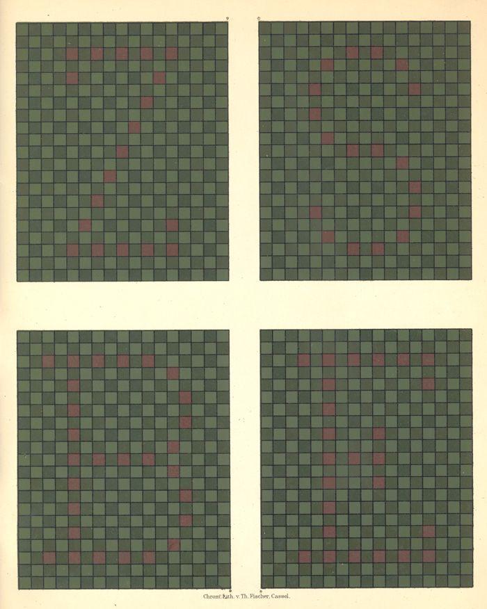Green, Red color blindness chart, from Tafeln zur Bestimmung der Blau-Gelbblindheit