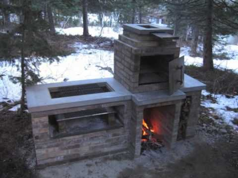 Classic brick smoker barbecue smoker barbecues and youtube for Bbq grill designs and plans