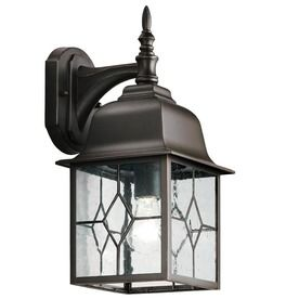 Outdoor Wall Lantern Lights Delectable Portfolio Litshire 1358In Oilrubbed Bronze Outdoor Wall Light Inspiration