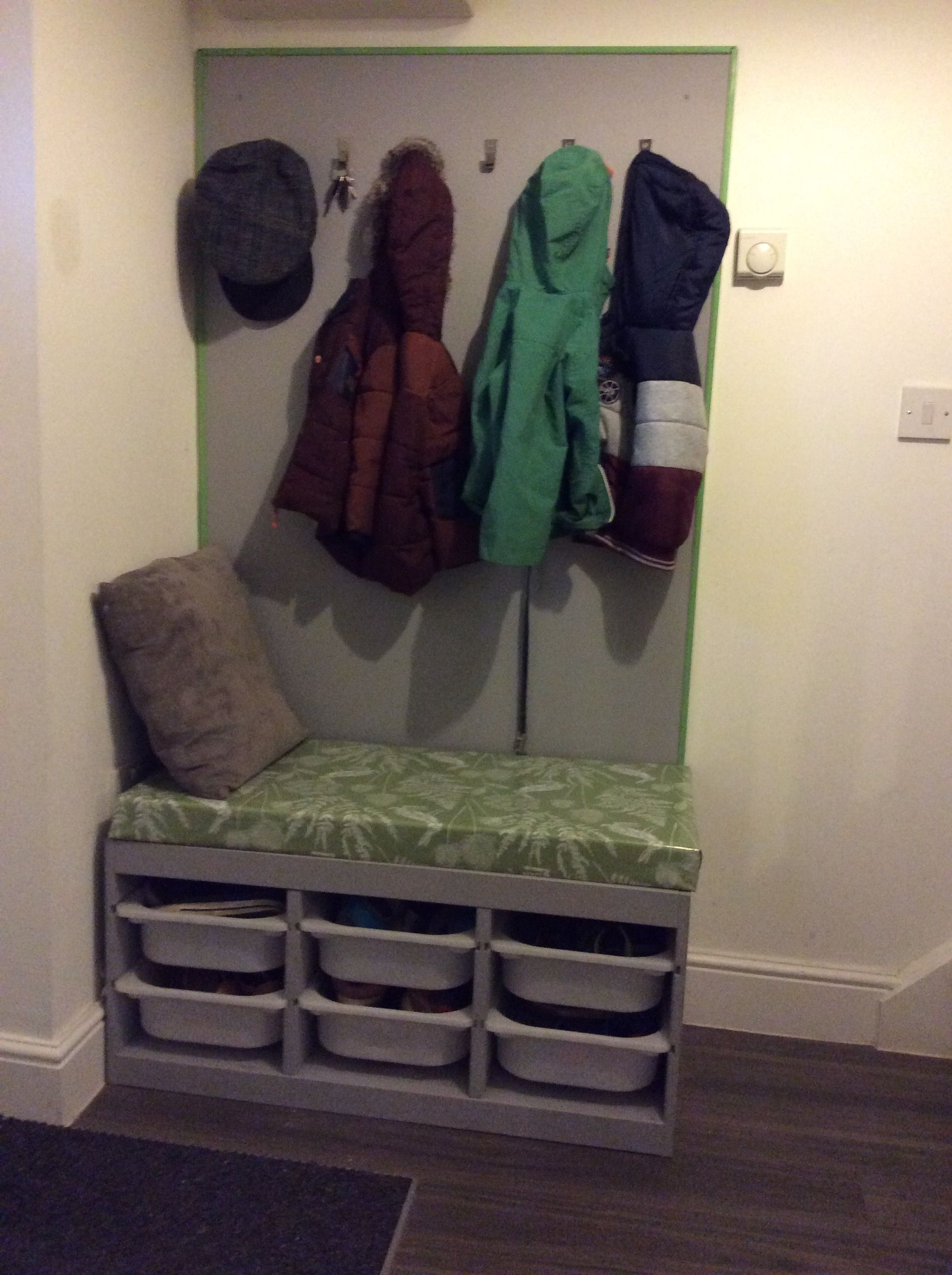 Hallway Shoe And Coat Rack Ikea Trofast Hack Organize In