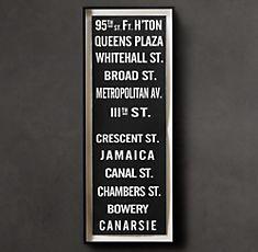 "Easy Restoration Hardware Subway Sign ""95th"" Knock Off"