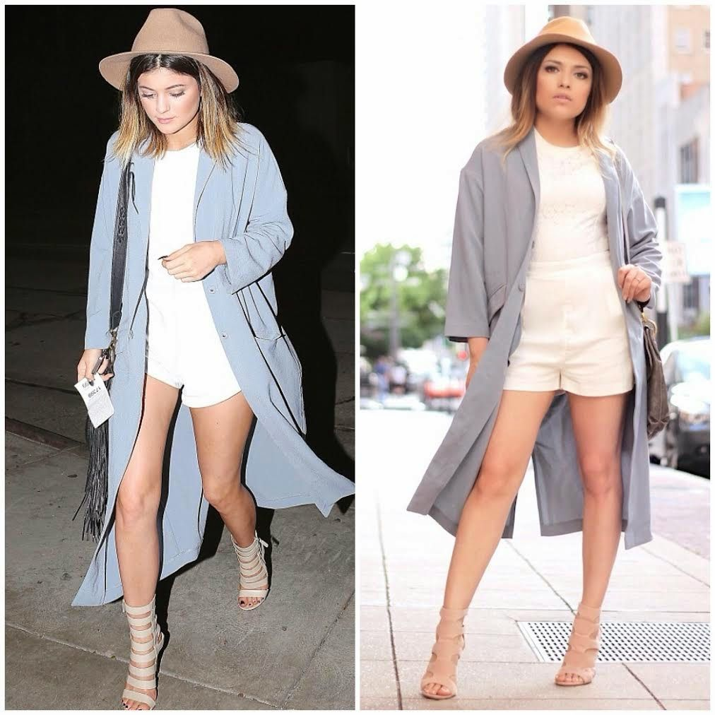Ashes into Fashion | Dallas Fashion Blog : Kylie Jenner Inspired ( Asos Duster Coat, Prima donna Tan Hat)