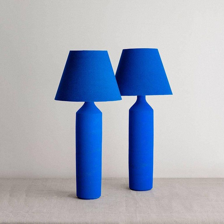 True Blue Table Lamp Light 01 Blue Table Lamp Blue Lamp Lamp