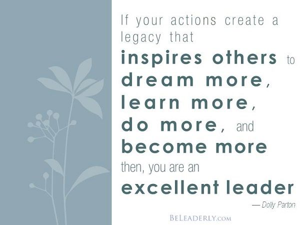 Leaderly Quote If Your Actions Create A Legacy Leaderly Quotes