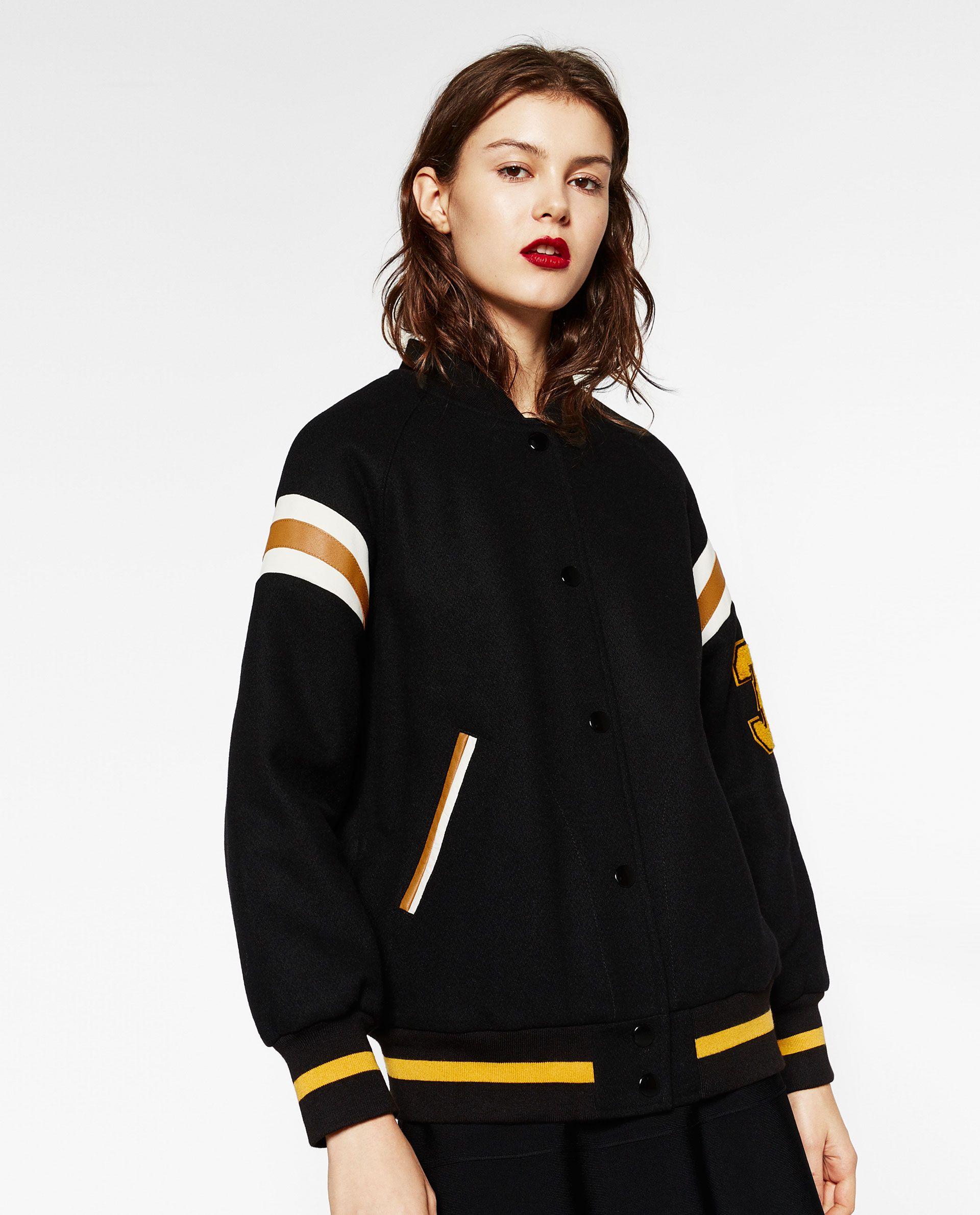 COLLEGE BOMBER JACKET Bomber jacket, Jackets, Zara