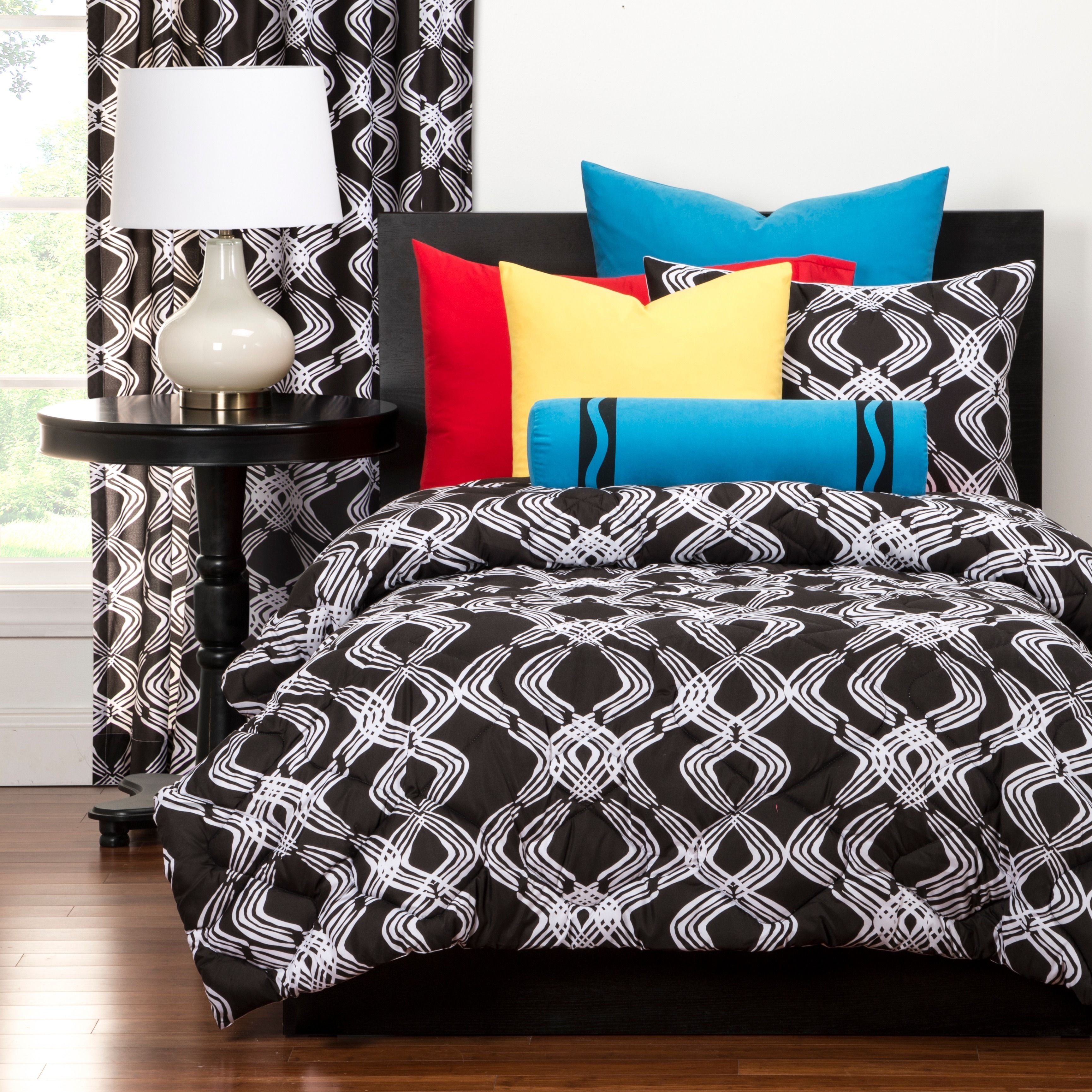 Crayola Infinity 3 Piece Comforter Set Twin 2 Piece Black