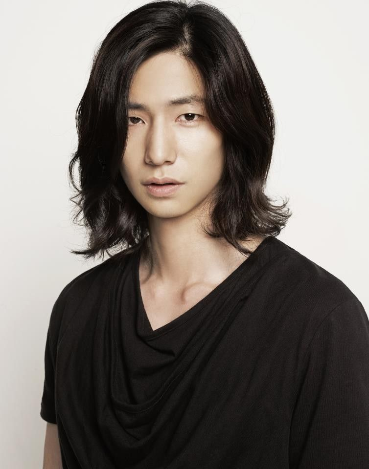 Song Jae Rim Black Long Side Part Cool Asian Hair Song Jae Rim
