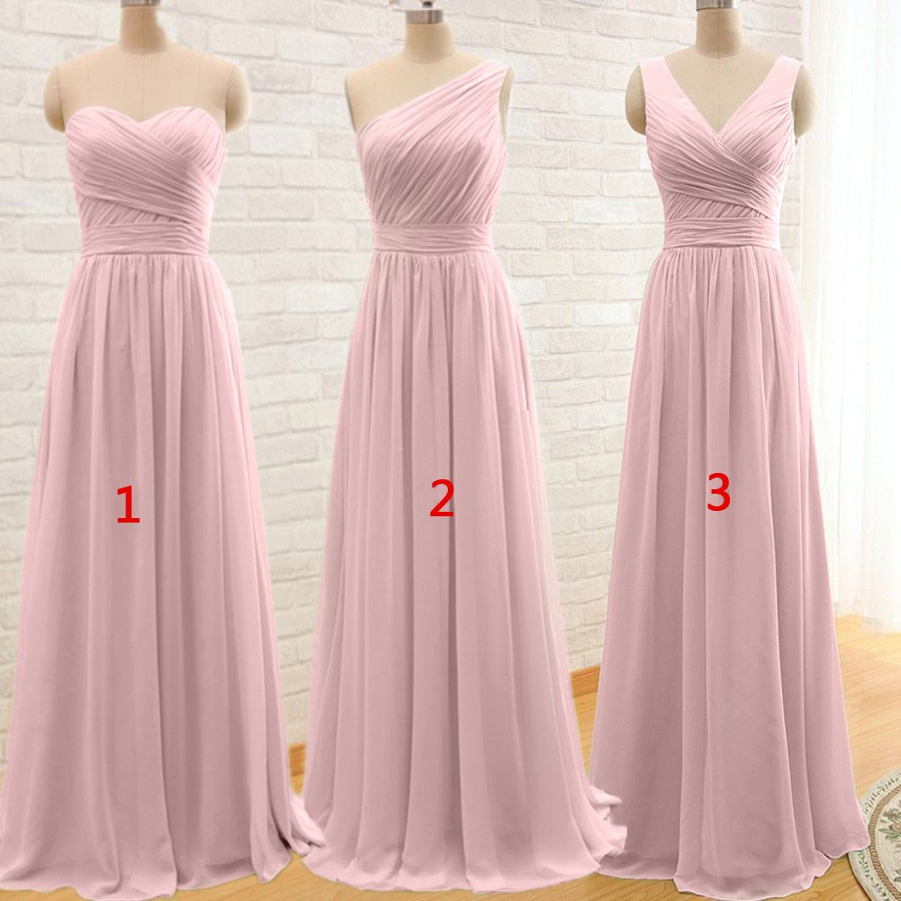 Ever Beauty Mint Green Long Chiffon A Line Pleated Bridesmaid Dress ...