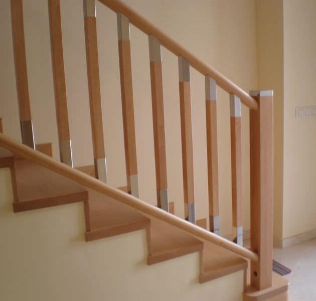 descubra toda la informacin sobre el producto barandilla de madera de acero inoxidable con barrotes de interior mistral escaleras yuste - Barandillas Escaleras Interiores