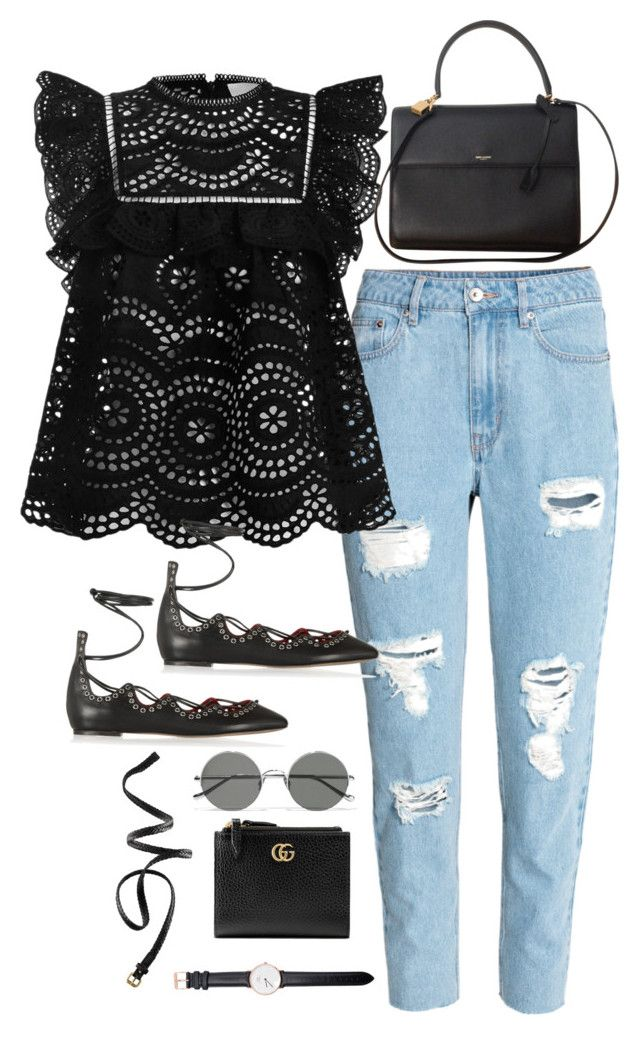 Sem título #5058 by fashionnfacts on Polyvore featuring polyvore, fashion, style, Zimmermann, H&M, Isabel Marant, Yves Saint Laurent, Gucci, Daniel Wellington, Sunday Somewhere and clothing
