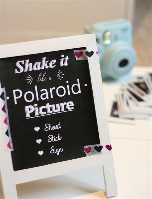 You can make your own wedding photo booth with an instant camera and ...