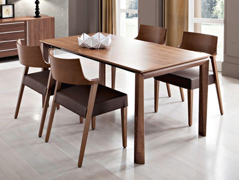 tavolo allungabile rettangolare in legno impiallacciato universe ... - Tavolo Allungabile Rettangolare