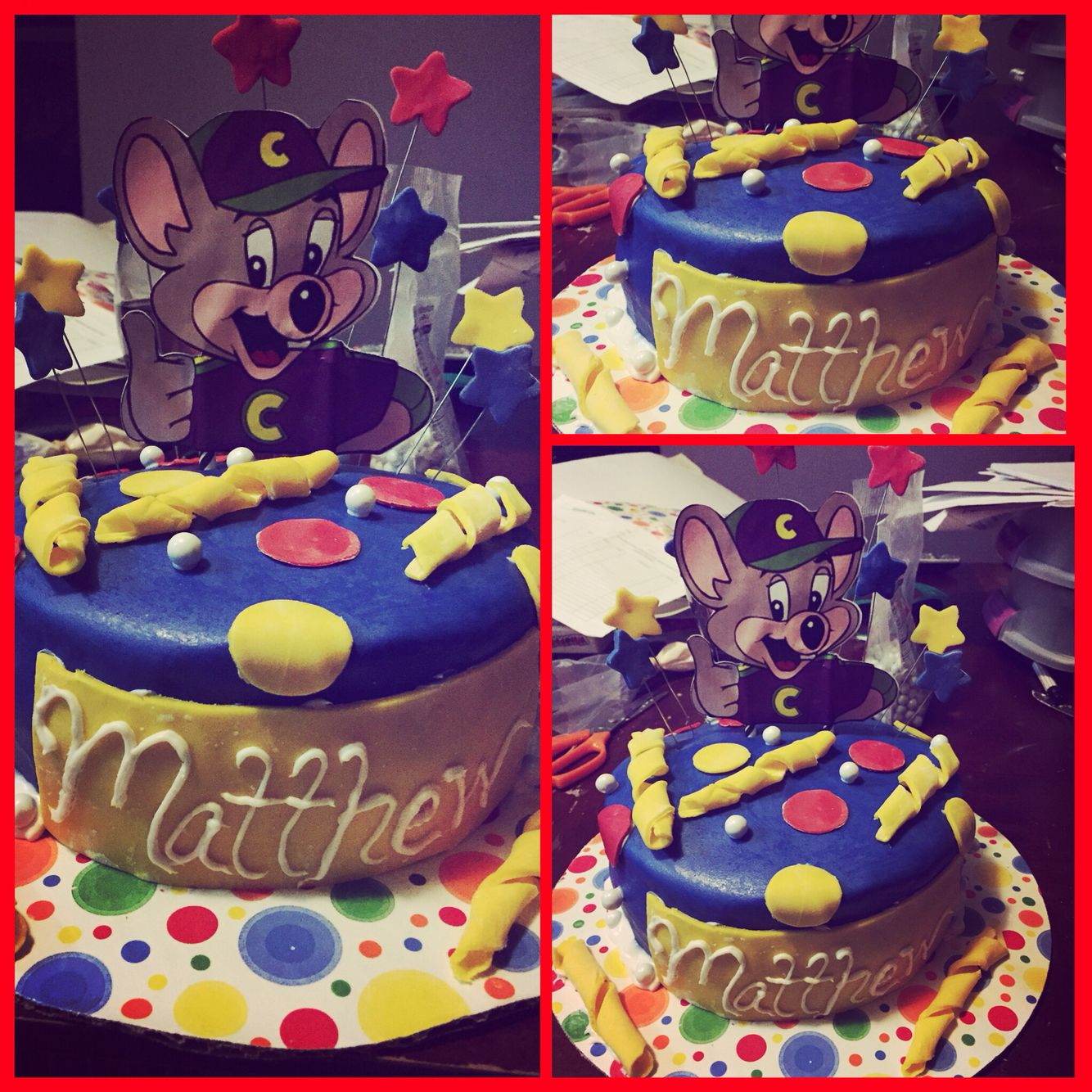 Chucky cheese cake I made My creations Pinterest Chucky