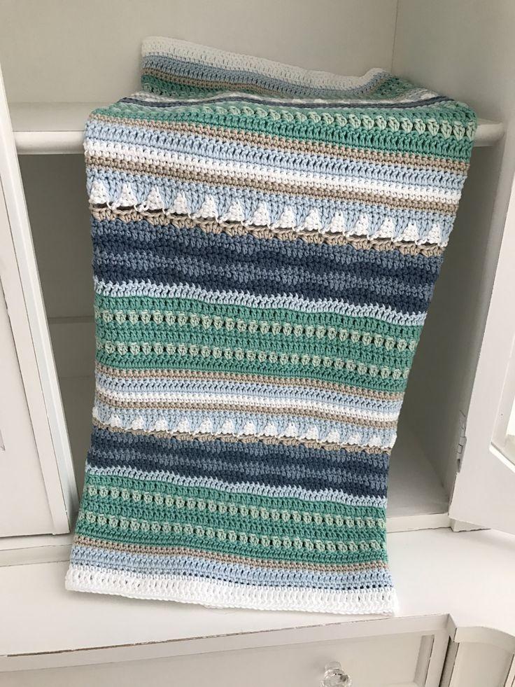Crochet Baby Blanket Pattern - Sailing - Pattern by Deborah O\'Leary ...
