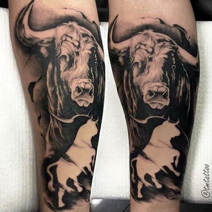 pin von tino auf tattoo stier tattoo stier tattoos und. Black Bedroom Furniture Sets. Home Design Ideas