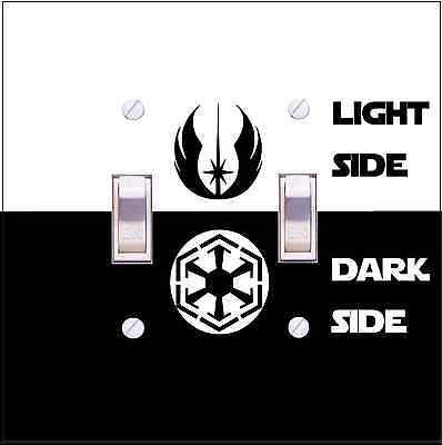 Star Wars Light Switch Cover Wall Plate Funny Light Side Jedi Or