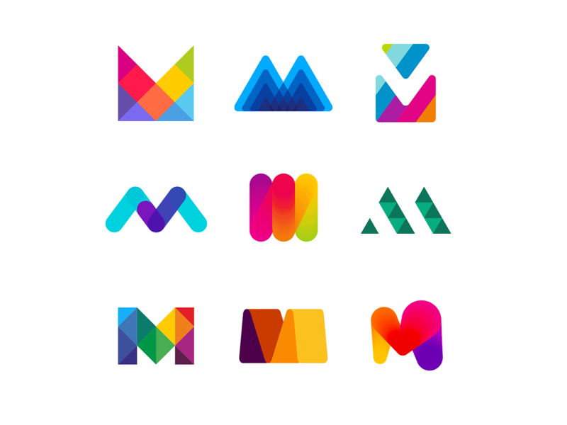 Logo Alphabet Letter M Logo Design Inspiration Creative Identity Design Logo Logo Design