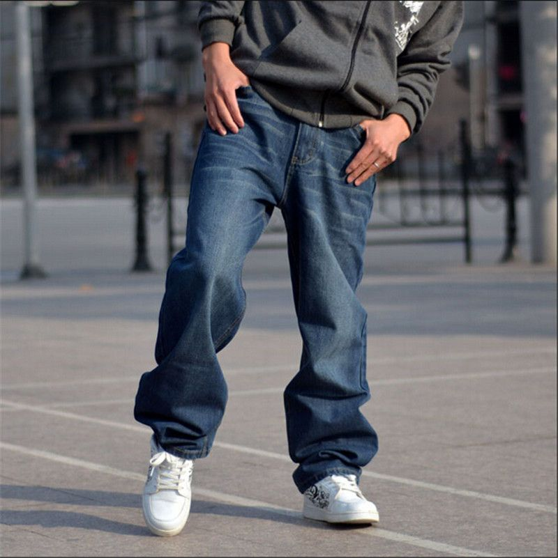 2015 new men hip hop jeans skateboard men baggy jeans