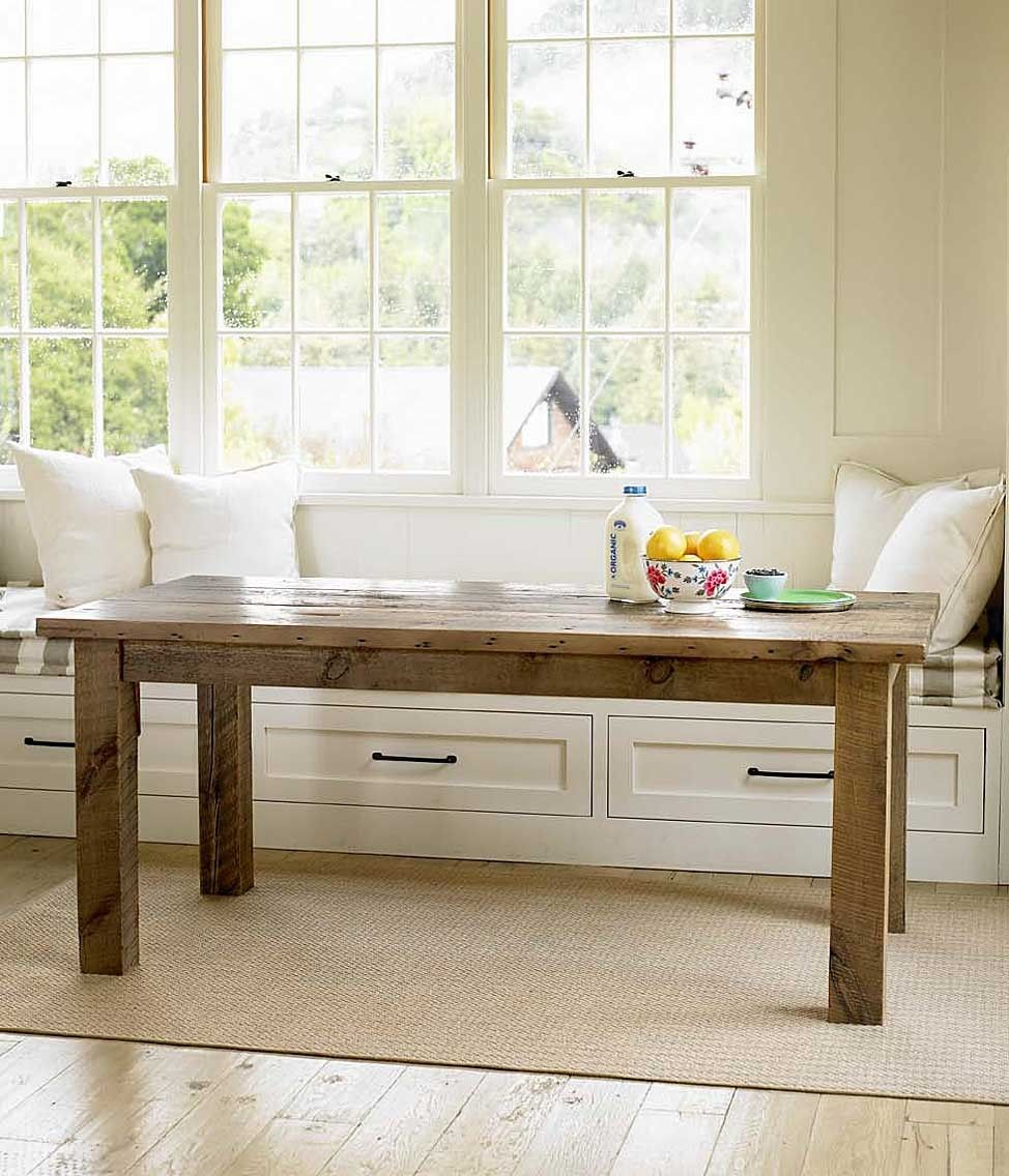 Create A Cozy Dining Nook By Placing A Reclaimed Farm Table In Front Of A  Window