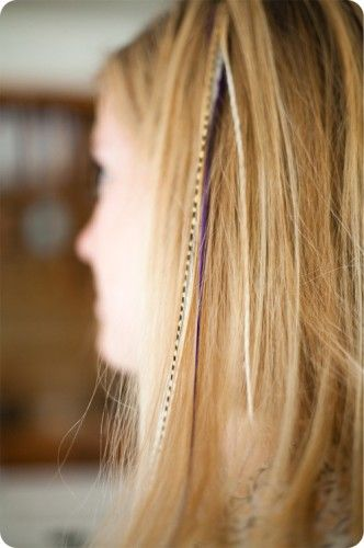 DIY feather hair extension