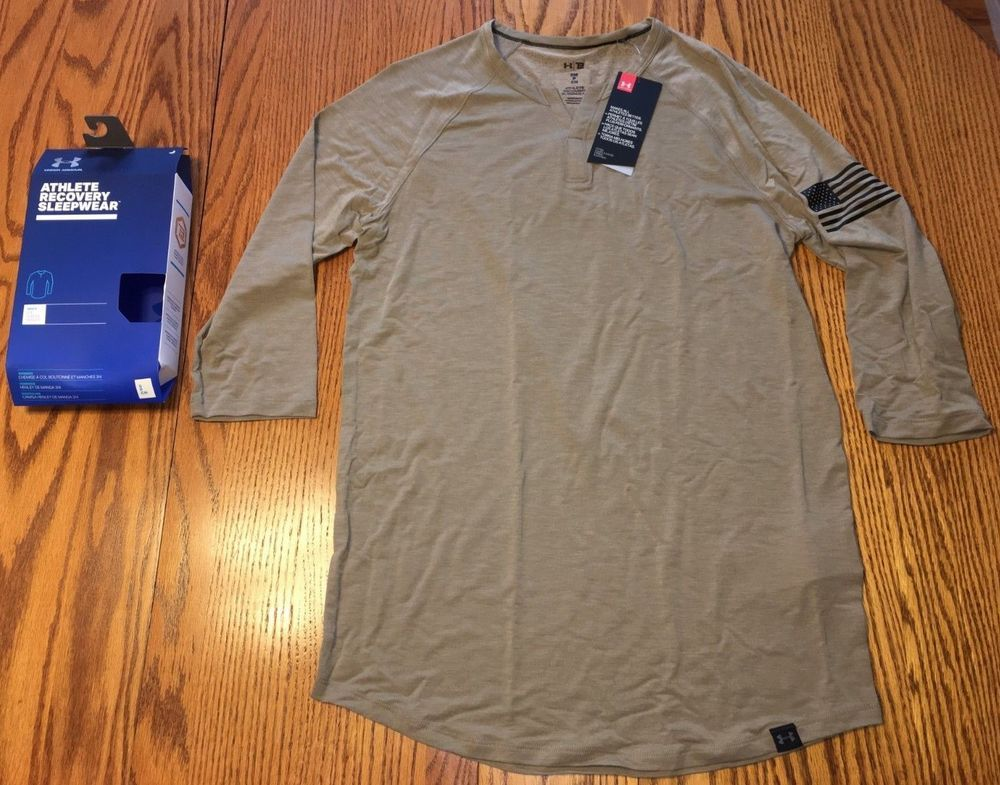NIB Men s Under Armour Athlete Recovery Sleepwear 3 4 Sleeve Henley Tan  Small  fashion  clothing  shoes  accessories  mensclothing  shirts (ebay  link) ebed99cf7