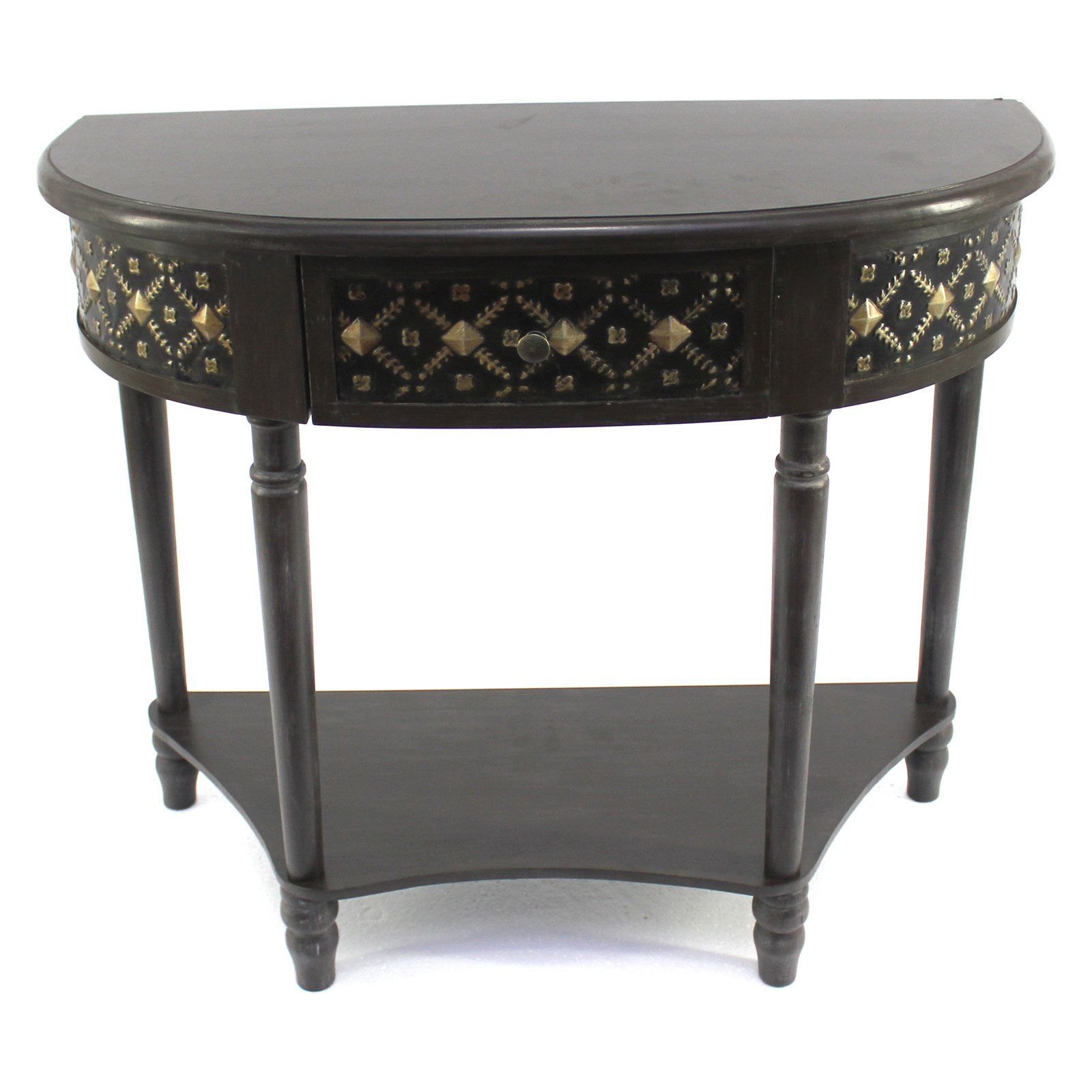 Incredible Teton Home Crescent Console Table With Shelf Products In Machost Co Dining Chair Design Ideas Machostcouk