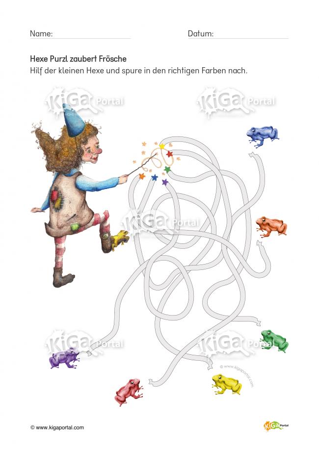 DE-KiGaPortal-HexePurzl-nachspuren-Froesche-Kindergarten-KiGaPortal ...