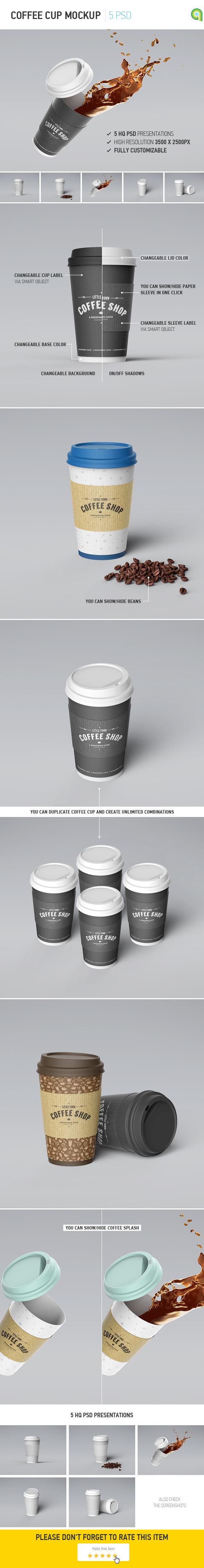 Coffee Cup Mockup on Behance Художественное оформление