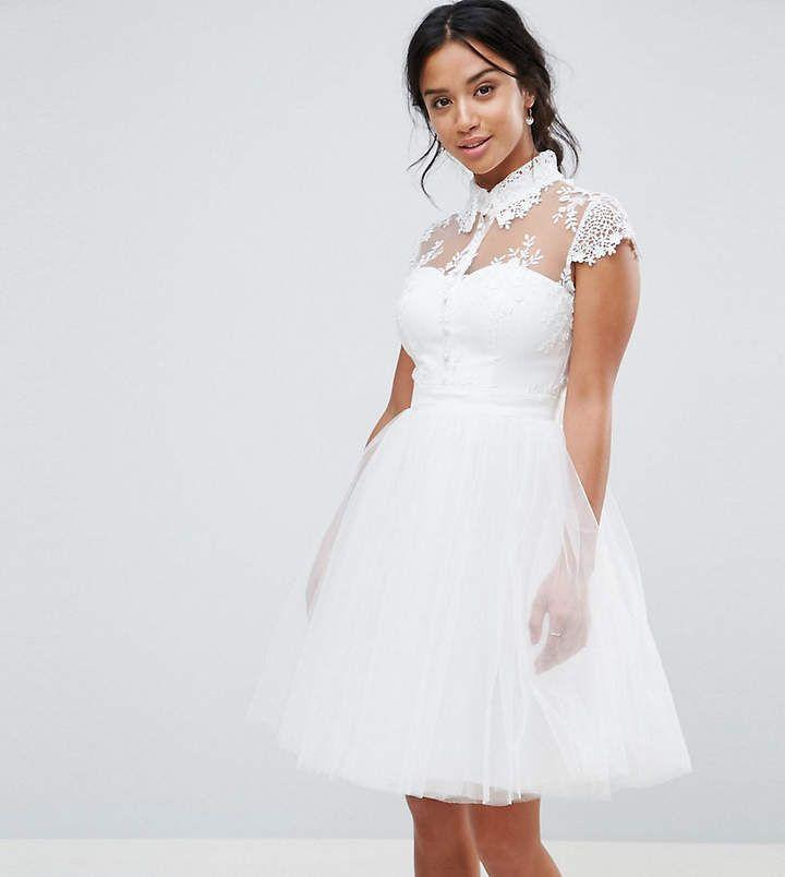 Short Lace Wedding Skater Dresses