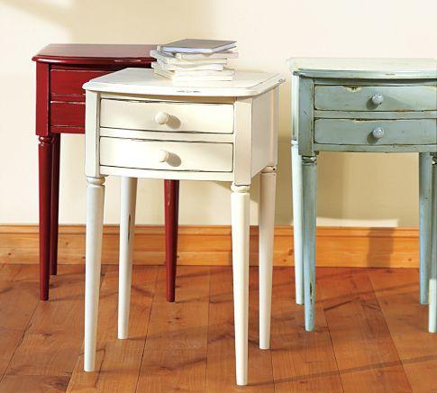 white - Charlotte Bedside Table | Pottery Barn