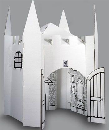 cardboard castle - great idea!!!