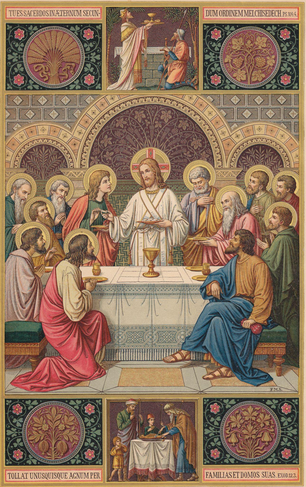 Abendmahlbild Von F M S Aus Dem Missale Romanum Altarbuch Von