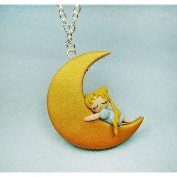 Bunny on the Moon, sailor moon,usagy,anime,manga,fimo,luna