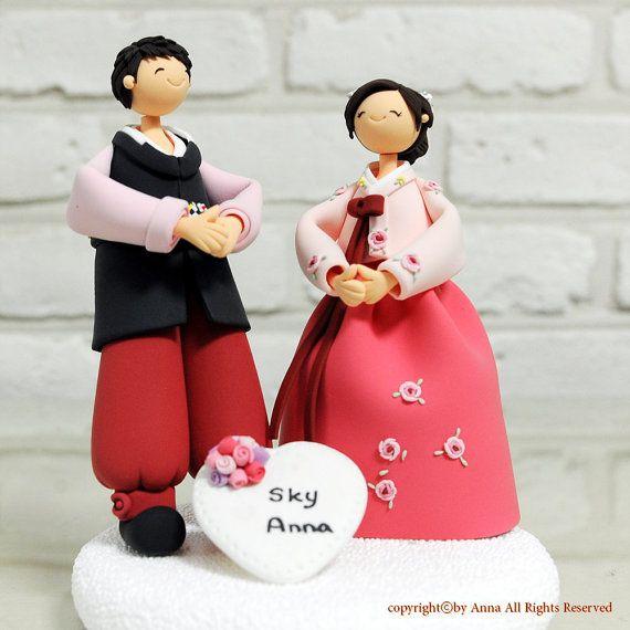 Korean Hanbok Wedding Cake Topper Decoration Gift By